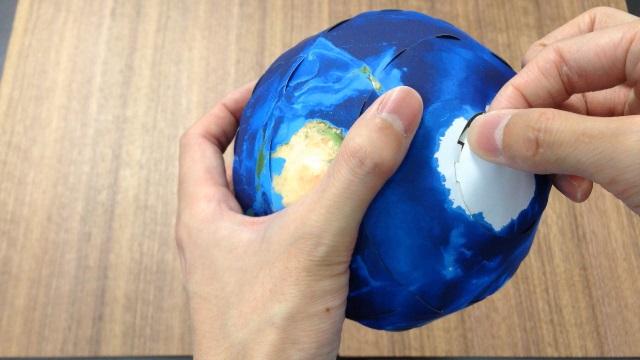 最後に「南極」の部分を仕上げます